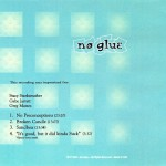 No Glue CD back cover