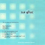 No Glue CD back cover