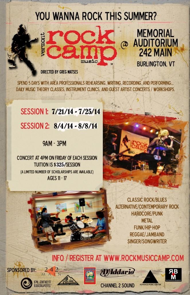 Rock Camp 2014 poster