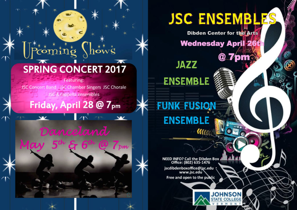 JSC Ensembles program - Spring 2017(cover)